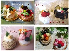 ■patis-le■スイーツデコ  ブログ フェルトケーキ