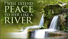 Free Peace Like River eCard - eMail Free Personalized Scripture Cards Online