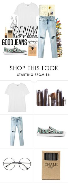 """lets go to s[h00L"" by cphrom28 ❤ liked on Polyvore featuring Frame, Moleskine, Ella Doran, Chicnova Fashion, Vans, Retrò and Jayson Home"