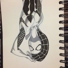 Day - 28 #inktober Gwen Stacy, spider woman. At this rate, we'll be seeing Aunt May in a spidey suit in no time