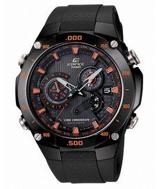 Casio Back Dial Edifice Wave Ceptor Rubber Strap Watch EQW-M1100C-1AER