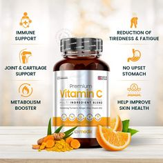 Premium Vitamin C - 120 Capsules - Immune System Support Capsules (2 Month Supply), High Strength, with Turmeric, Grapeseed Extract & Rosehip, Multivitamin Complex, Vegan Multivitamins Supplement: Amazon.co.uk: Health & Personal Care Vitamin Tablets, Vitamin C Supplement, Multivitamin Supplements, Vegan Vitamins, Uk Health, Ad Design, Graphic Design, Grape Seed Extract, Product Design