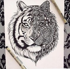 Tattoo idea, fierce tiger tattoo