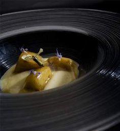 Manzana con Gorgonzola y velo de sidra. Nacho Manzano. MadridFusion