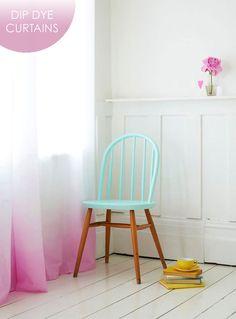 TRÊS STUDIO ^ blog de decoración nórdica y reformas in-situ y online ^: Deco Trends: Dip Dye Curtains