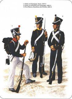 Napoleon's Sea Soldiers 1-Sailor,44e Equipage, Spain 1810-11 2-Sailor, 24e Bataillon des Equipages 1808-11 3-First Master, Bataillons des flotilles 1808-11