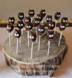 owl party ideas | owl cake pops! | Party Ideas
