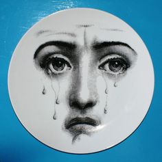 Fornasetti Theme & Variations Plate #77 FACE
