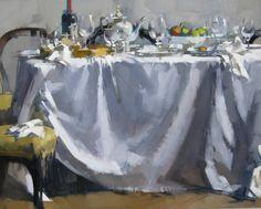 "Maggie Siner ""Table Wine"", 2013, 24 x 30 ins oil on linen"