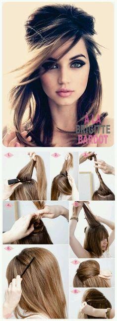 Brigite Bardot hair style