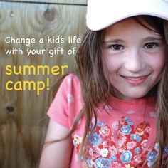 $225 can send a kid to summer camp for a week. For kids living on the fringes of poverty in our community, a week of camp can provide hope for a brighter tomorrow.  Change a child's life with your gift of summer camp.  www.hopemission.com/donate Care Agency, Homeless People, Child Life, Fringes, Fundraising, Children, Kids, Community, Christian