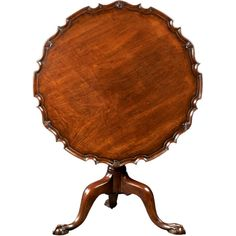 A Fine English Georgian Mahogany Piecrust Tilt Top Tea Table | From a unique collection of antique and modern card tables and tea tables at http://www.1stdibs.com/furniture/tables/card-tables-tea-tables/