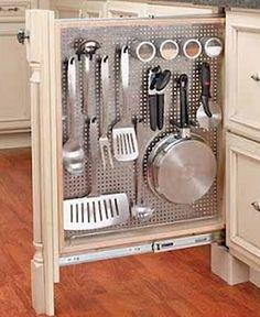 Every Inch Used Kitchen Storage
