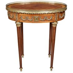 19th Century Signed Krieger Louis XVI Side Table | From a unique collection of antique and modern side tables at http://www.1stdibs.com/furniture/tables/side-tables/