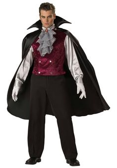 mens aristocratic vampire costume 7699 halloweencostumescom - Classic Mens Halloween Costumes