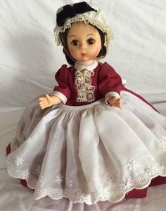 "Antique 8"" Madame Alexander - Kins - Marme  #MadameAlexander #DollswithClothingAccessories"