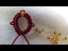 Hogyan adjunk 4 gyöngyöket tűt frivolitás Work - YouTube
