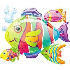"Anagram Tropical Fish Cluster Super Shape Balloons - 24"" X 30"" by Anagram, http://www.amazon.com/dp/B000WNN0LG/ref=cm_sw_r_pi_dp_ZElnrb19JZ6B4"