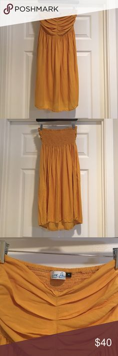 Ava Sky from Fighting Eel Ava Sky tube dress with pockets.  Light and airy.  In great condition.  Comes from smoke and pet free home. Ava Sky Dresses Strapless