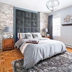 Une chambre de pierre et de velours - Chambre - Inspirations - Décoration et rénovation - Pratico Pratique