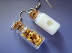 Milk and Cookie Earrings by thegreatvorelli on Etsy, $8.00