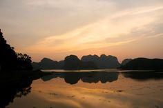 Ninh Binh Vietnam sunset