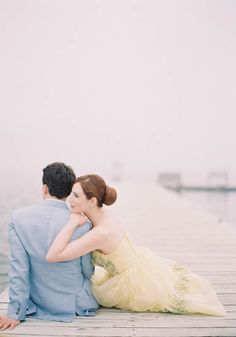 Nantucket Engagement Shoot | Photos by  Jen Huang | 100 Layer Cake