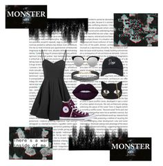 """""""~Monster~ Pick&Choose Set"""" by dolly-demx ❤ liked on Polyvore featuring Forever 21, Glamorous, Lime Crime, Converse, Humble Chic, Skinnydip, kpop, monster, EXO and summerdate"""
