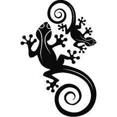 Two lizards wall decal - ambiance-sticker.com