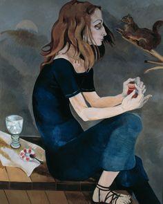 Neş'e Erdok, Nesrin Ayışığında İskelede Çay İçiyor, 150x120 cm, 1998, Tuval üzerine yağlıboya / Oil on canvas Mona Lisa, Picnic, Sculptures, Artist, Artwork, Painting, Models, Gatos, Art Of Women
