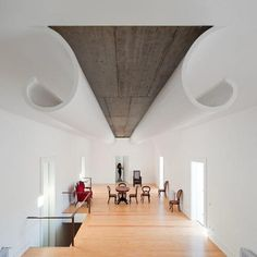 modern interiors with unusual ceilings