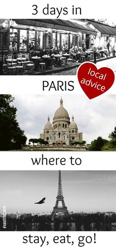 """spend 3 days in Paris and see the highlights of the french capital with our Paris itineraries. Get a detailed """"What to see in Paris in 3 days"""" trip plan written by locals. Know where to to stay, where to eat and what to do in Paris in 3 days. Plus: offbeat tips & hidden gems to get most out of your three days in Paris"""