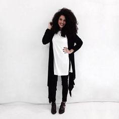 O que vai bem com jeans preto e camiseta branca? | 11 imagens fortes demais se…
