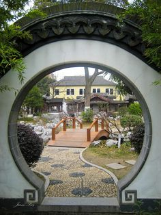 FENG SHUI REMEDY - Moongates draw Qi into a site. Don't you want to step through this Moongate to see what's inside?