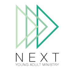 """The logo for our church's young adult ministry. I was inspired by the """"next"""" button."""