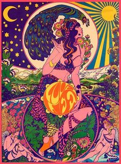 Psychedelic Band Poster #woodstock #60s #70s #drugs #band #trippy #psychedelic #poster #hipster #hippie #vintage #rainbow #nature #peace