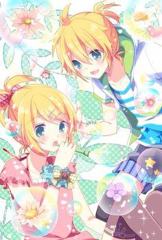 Kagamine Rin & Kagamine Len Summer