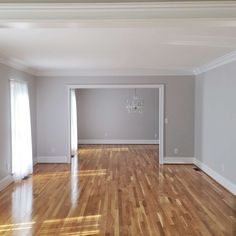 Plans of Woodworking Diy Projects - 10 Times Gray was the Perfect Color for Everything — Bethany Mitchell Homes Get A Lifetime Of Project Ideas & Inspiration! Oak Wood Trim, House Colors, Room Colors, Grey Walls White Trim, Living Room Wood Floor, Grey Kitchens, Home, Living Room Paint, Light Wood Floors