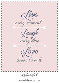 Quadros com Frases de Amor - Ilustrações - Clube Noivas - Live, laugh, Love