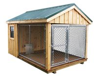 dog kennel, but I'd probably extend the chainlink out into the yard a bit for more room to run.