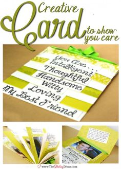 Step card Tutorial - great for a husband or loved one's gift!