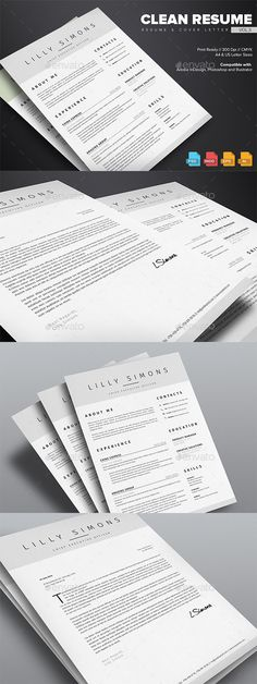 Clean - Minimal Resume Template Minimal, Simple resume template - easy simple resume template