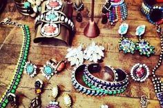 Colourful jewels.