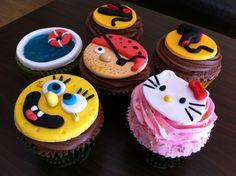Cupcakes Bob Esponja, Hello Kitty, Pirata, Piscina, Peluquería.