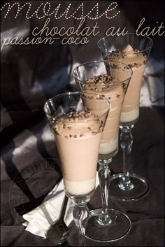 les petits plats de trinidad: Mousse chocolat au lait et passion sur lit coco po...