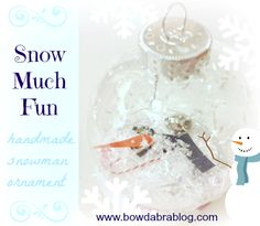 {Handmade Christmas Ornament} Snowman Love