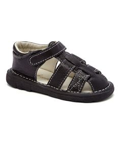 Another great find on #zulily! Black Cuby Leather Sandal #zulilyfinds