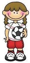 imagen de niña haciendo deporte  para imprimir; Imagen de niña con pelota de futbol