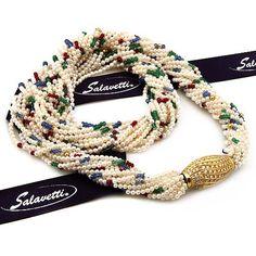 Salavetti High Jewelry, Pearl Jewelry, Bridal Jewelry, Jewelry Box, Jewelery, Jewelry Necklaces, Beaded Necklace, Bracelets, Moroccan Jewelry