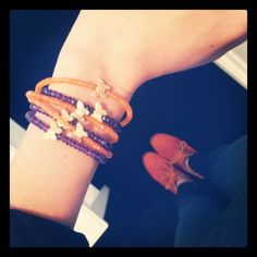 Today around the boutique matching orange & purple with our superstar LindseyMarie Virtue necklace-bracelet. #ootd #fashionjewelry #streetstyle # designer #cute #butterflies www.lindseymarie.com Orange And Purple, Bangles, Bracelets, Superstar, Butterflies, Fashion Jewelry, Ootd, Street Style, Boutique